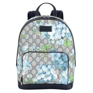 Gucci Mens GG Supreme Blooms Backpack Rucksack Bag